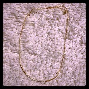 S&D Crescent Necklace - gold